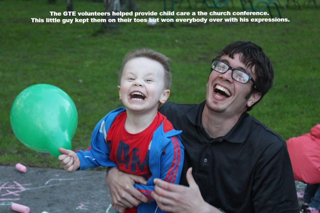 GTE volunteers provided child care during the conference
