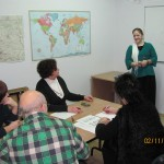 Maria Wadel teaching