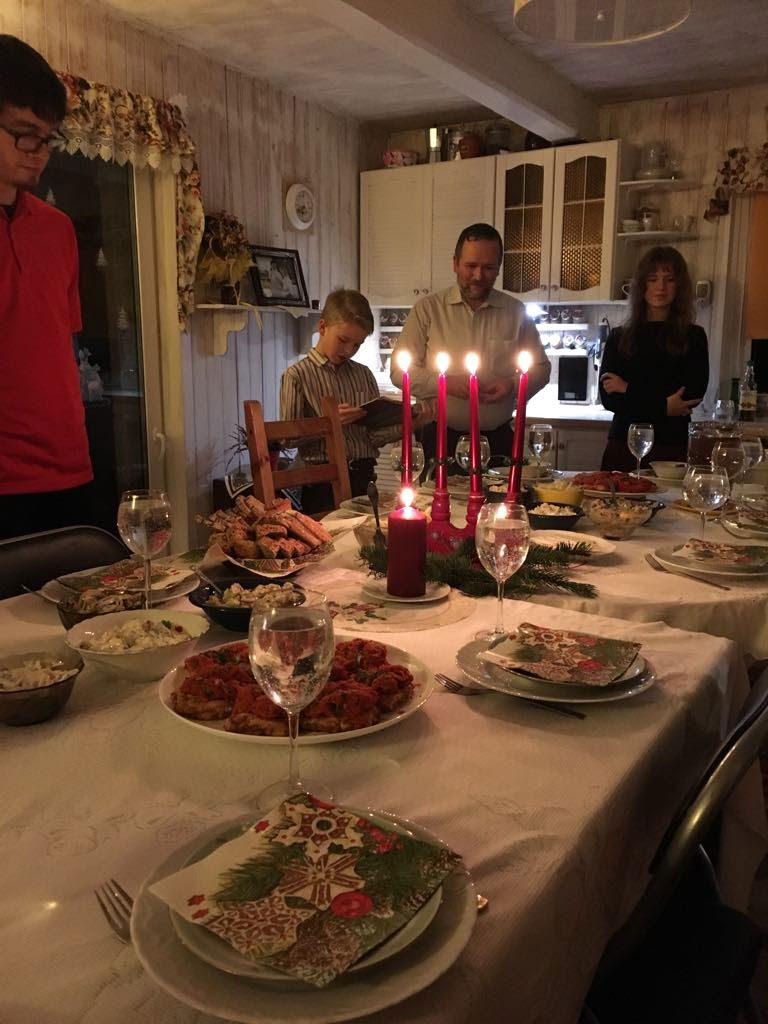 Christmas eve supper with Piotr and Jola